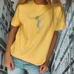 Tops - Yellow Margarita Glass T shirt